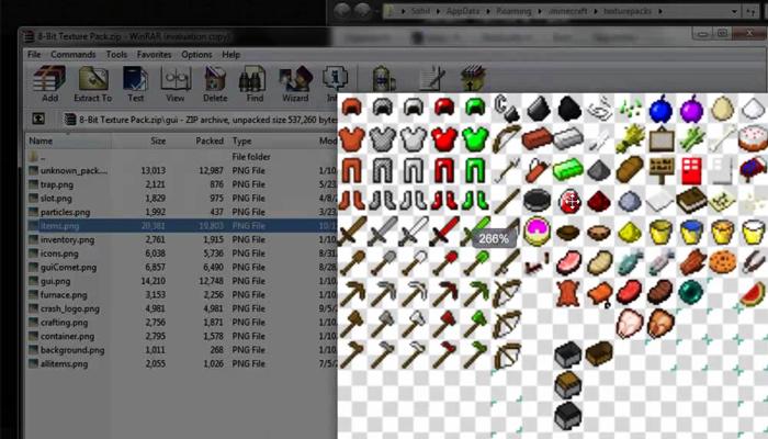 Minecraft 8-bitCraft Texture Pack, melhores texturas, jogando craft, baixe minecraft, jugar minecraft