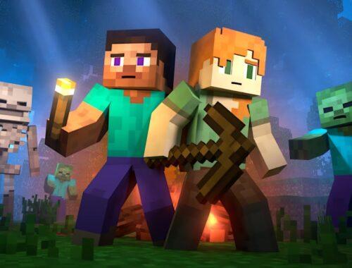 Alex e Steve Minecraft