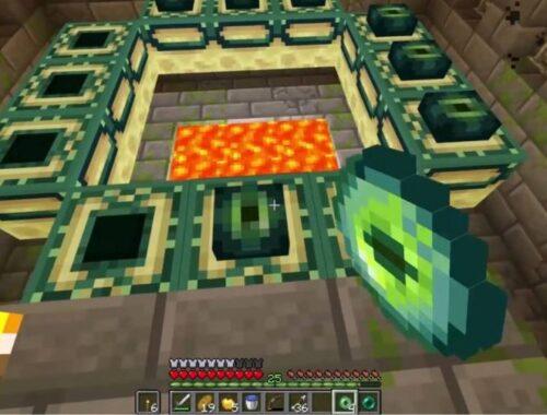 Como criar um portal final em Minecraft